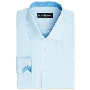 Society of Threads Men's Slim Fit Blue Button-Down